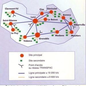 Les réseaux régionaux des années 1980